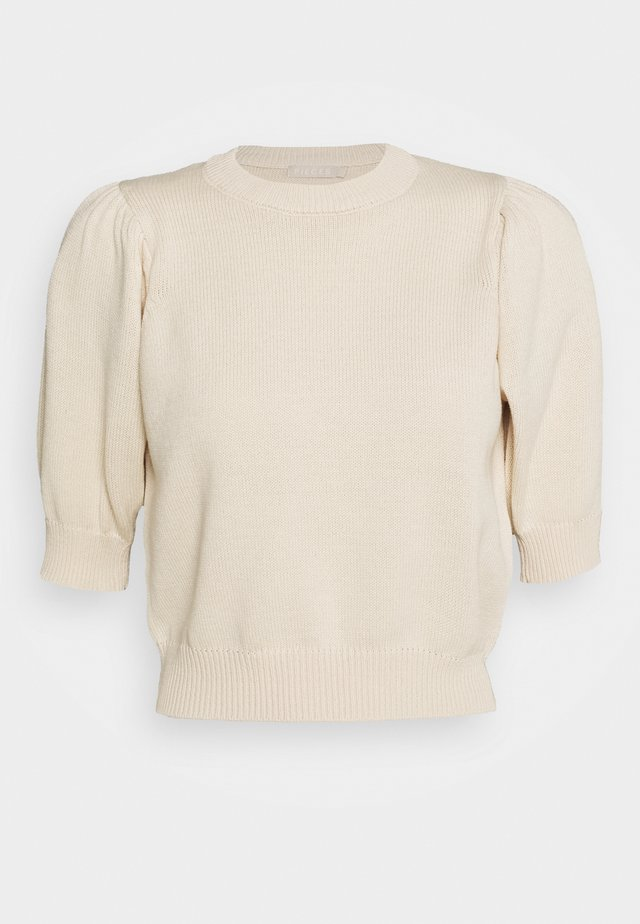 PCMASCHA ONECK - T-shirt z nadrukiem - whitecap gray