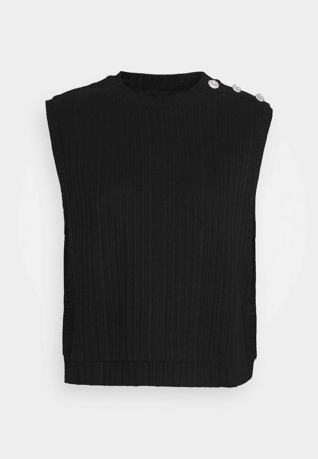 PCLILLIE VEST - Top - black