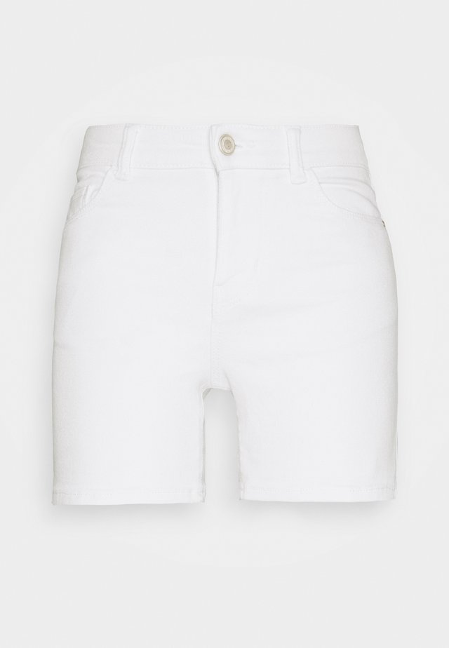 PCKAMELIA FOLD UP - Jeansshort - bright white