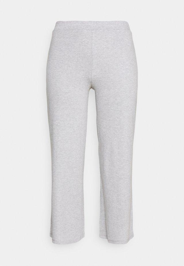 PCSIMINIA PANTS CURVE - Bukse - light grey melange