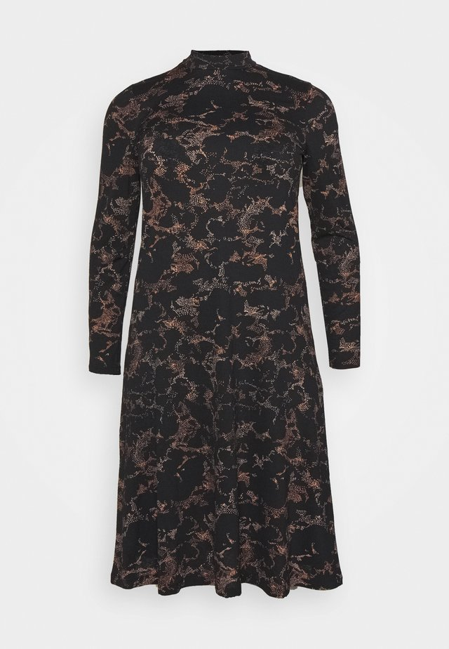 SAPPHIRE MIDI DRESS - Day dress - black