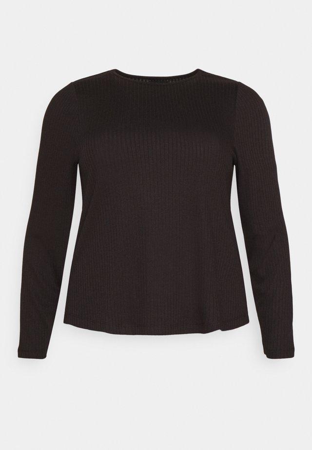 PCSARANA - T-shirt à manches longues - black