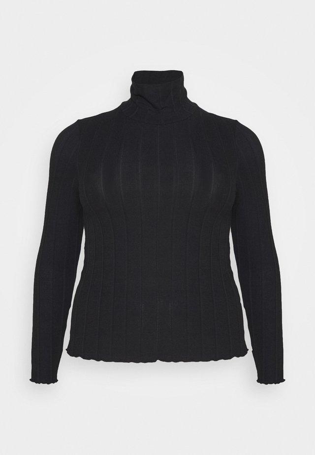 PCSAOREM ROLL NECK - T-shirt à manches longues - black