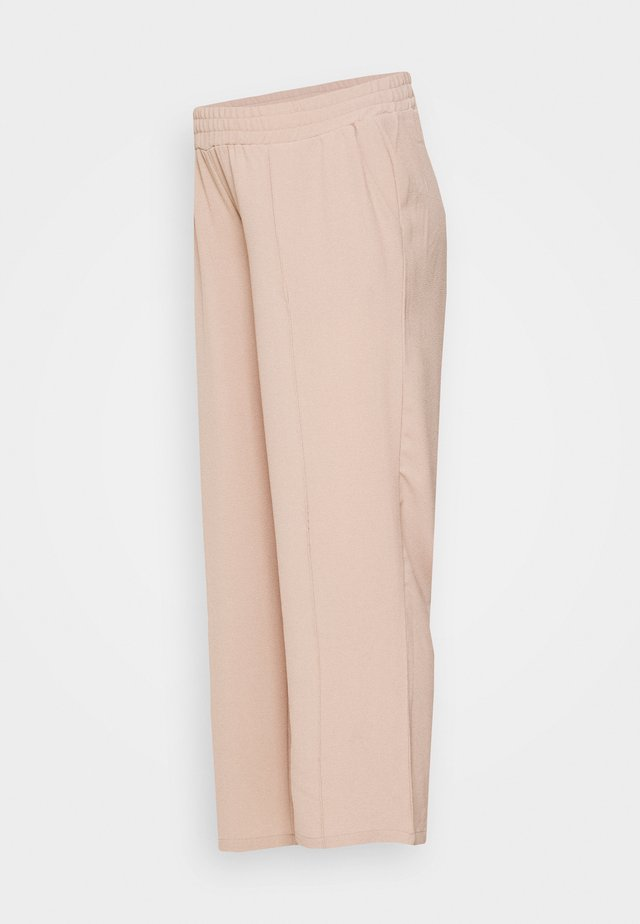 PCMBELIA WIDE PANT - Trousers - natural