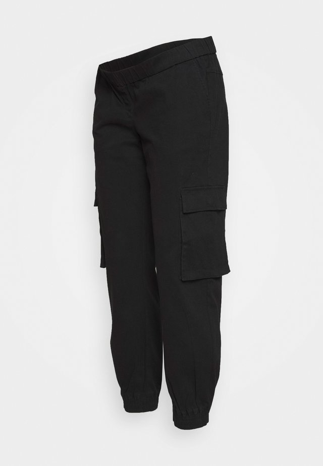 PCMSISCA ELASTIC CARGO PANTS - Pantalon cargo - black