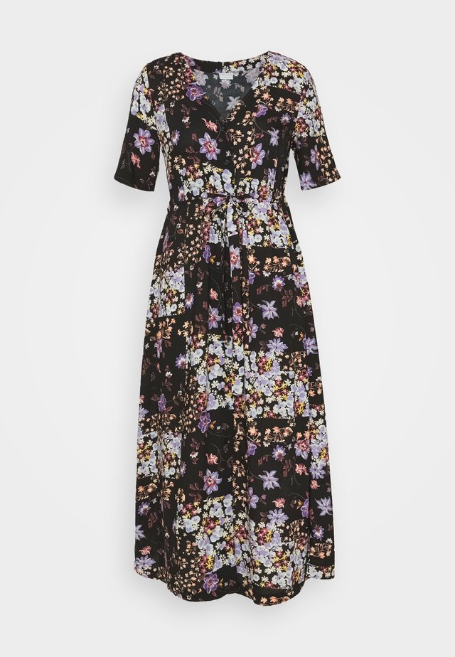 PCMBECCA MIDI DRESS - Robe d'été - black/purple