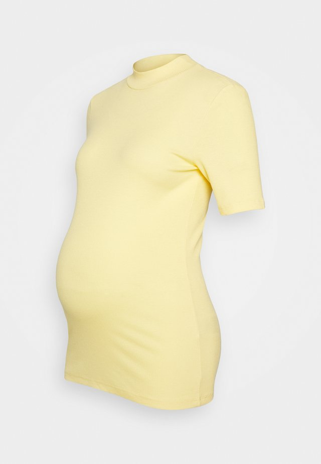 PCMBIRDIE T NECK - Basic T-shirt - golden haze