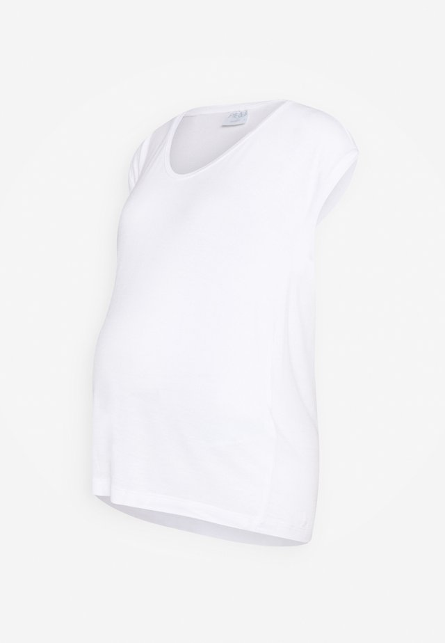 PCMBILLO TEE SOLID - T-shirts - bright white
