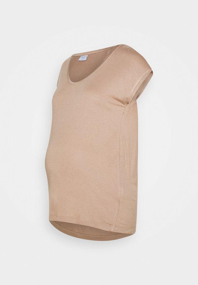 PCMBILLO TEE SOLID - T-shirts - natural