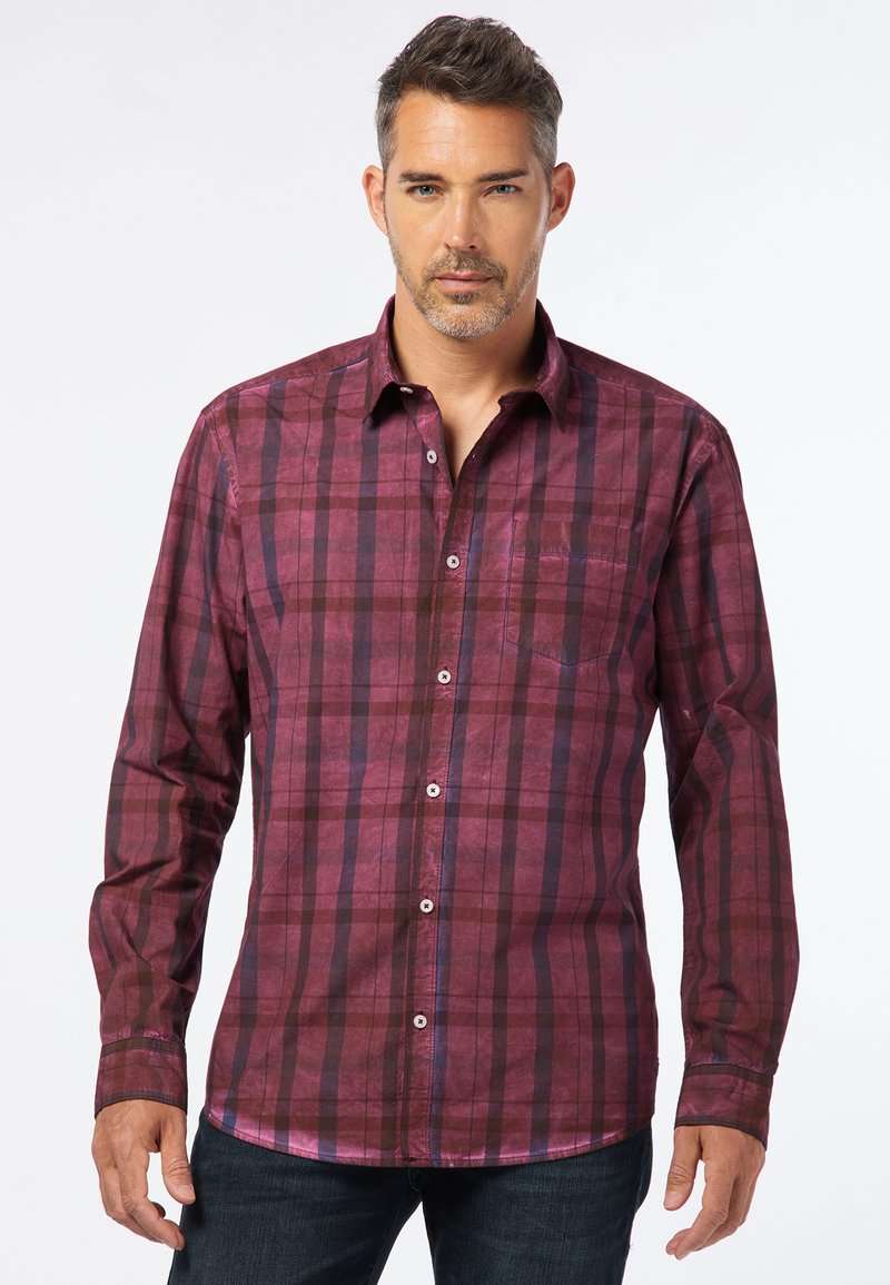 Pioneer Authentic Jeans - REGULAR FIT - Shirt - bordeaux