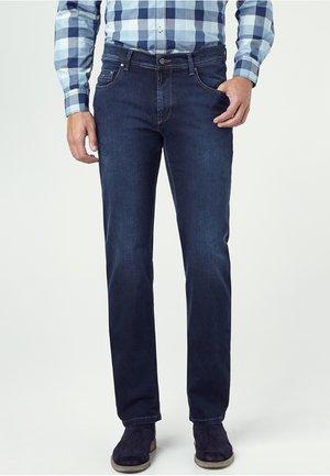 MEGAFLEX RANDO - Jeans Straight Leg - blue-black