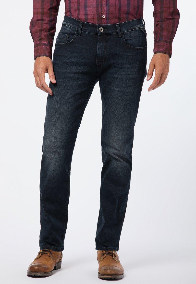 Pioneer Authentic Jeans - STORM - Jeans Straight Leg - blue-black