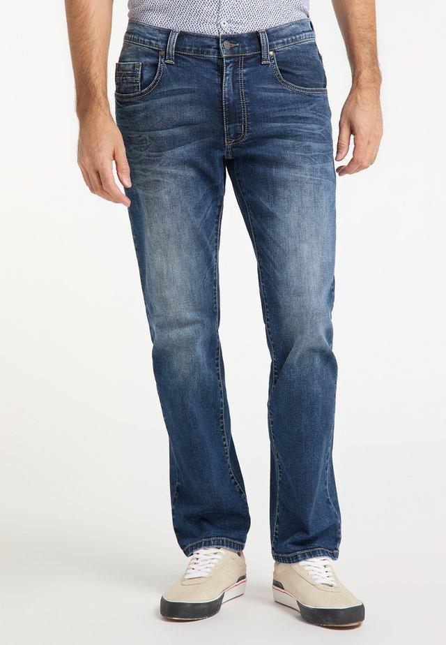 RANDO AUTHENTIC LINE - Straight leg jeans - blue-black denim