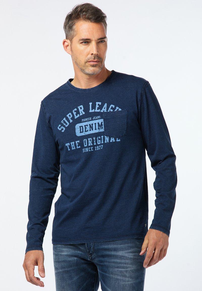 Pioneer Authentic Jeans - LONG SLEEVE - Long sleeved top - indigo blue