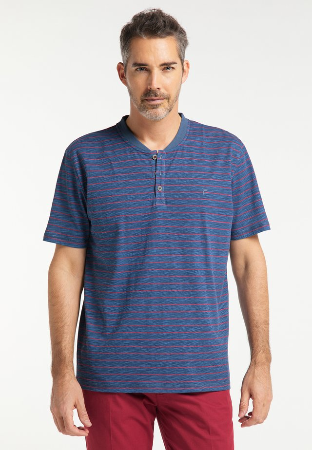 Print T-shirt - indigo blue