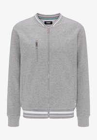 Pioneer Authentic Jeans - SWEATJACKET ÜBERGRÖSSE - Hoodie met rits - gray mel - 4