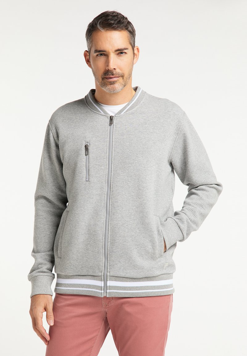 Pioneer Authentic Jeans - SWEATJACKET ÜBERGRÖSSE - Hoodie met rits - gray mel