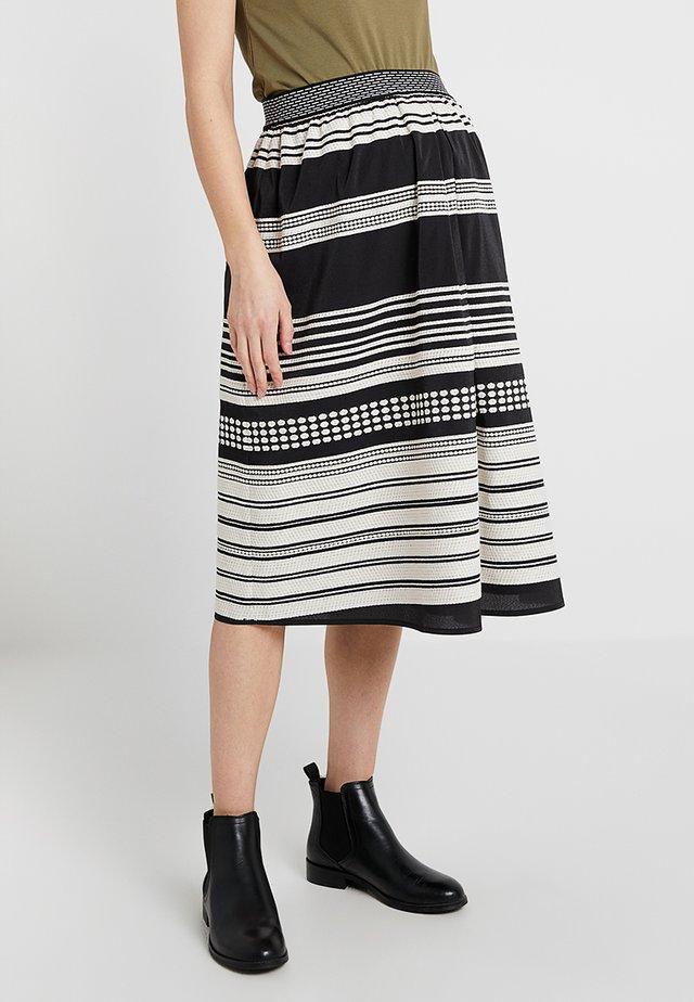 LORENA - A-line skirt - black