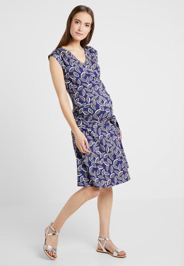 CAMILLE - Jersey dress - blue