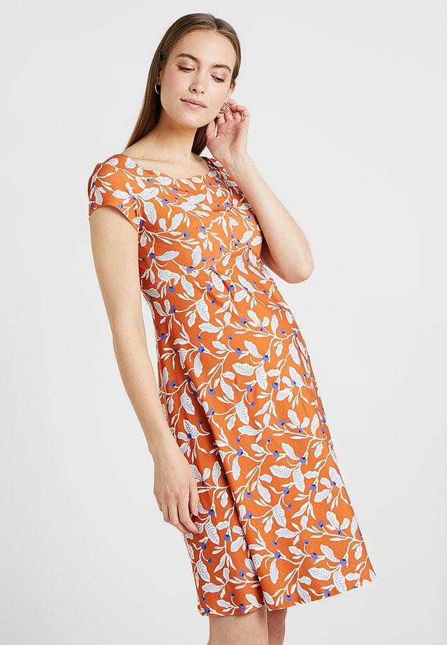 JEANNE - Jersey dress - orange