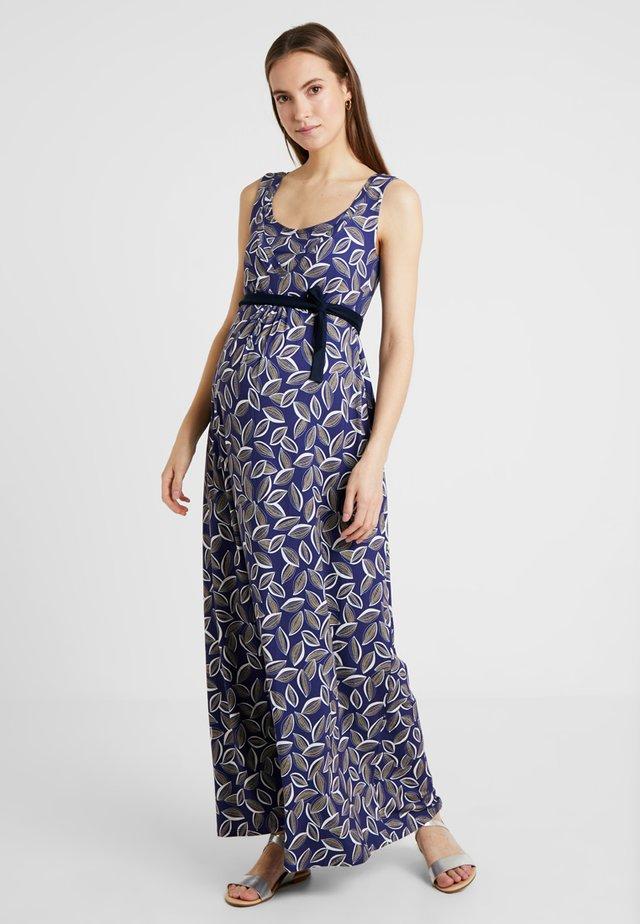 FELICIE - Maxi dress - print cacao fond bleucocoa print blue background