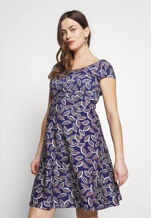 JEANNE - Sukienka z dżerseju - cacao/blue