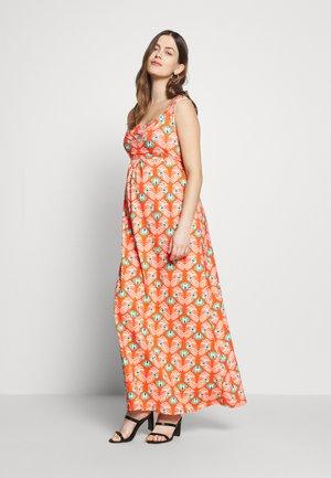 FÉLICIE - Sukienka z dżerseju - fond rouge