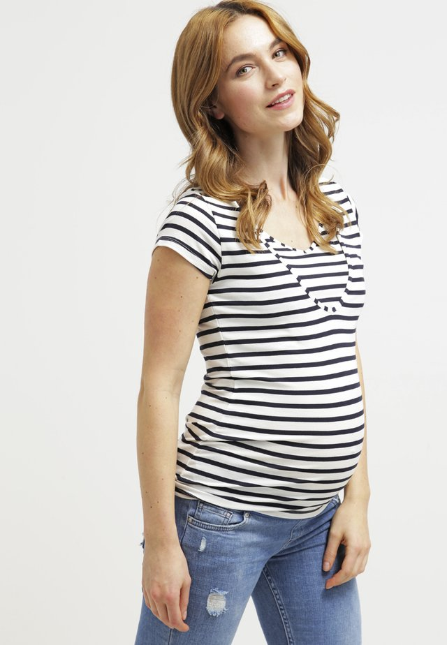 LISE - T-shirt imprimé - blau/weiß