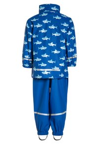 Playshoes - REGENANZUG HAI ALLOVER SET  - Pantalon de pluie - blau - 2