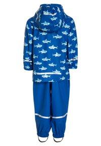 Playshoes - REGENANZUG HAI ALLOVER SET  - Pantalon de pluie - blau - 1