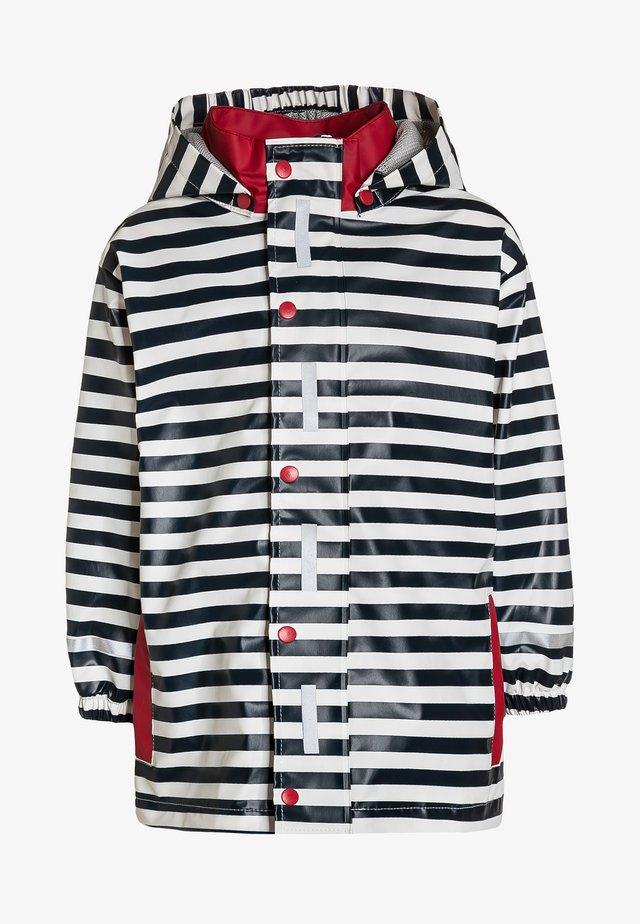 Regenjacke / wasserabweisende Jacke - marine/weiß