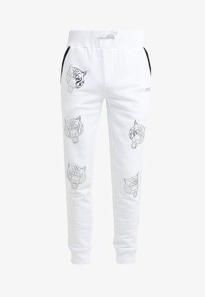 JOGGING TROUSERS TIGER - Teplákové kalhoty - white/silver