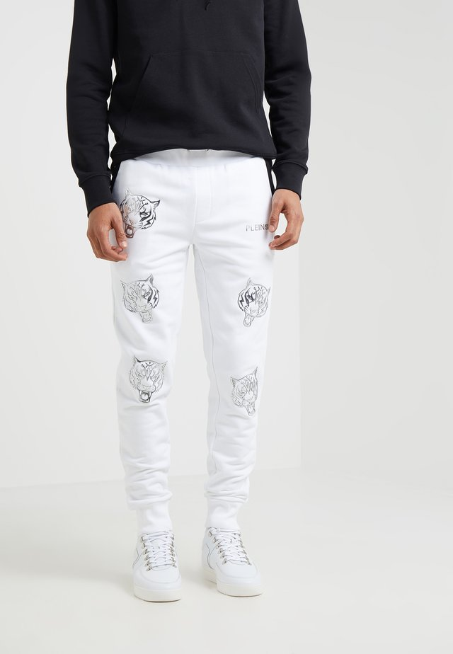 JOGGING TROUSERS TIGER - Träningsbyxor - white/silver