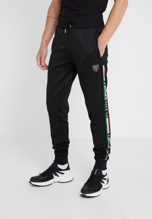 JOGGING TROUSERS IT STRIPES - Verryttelyhousut - black