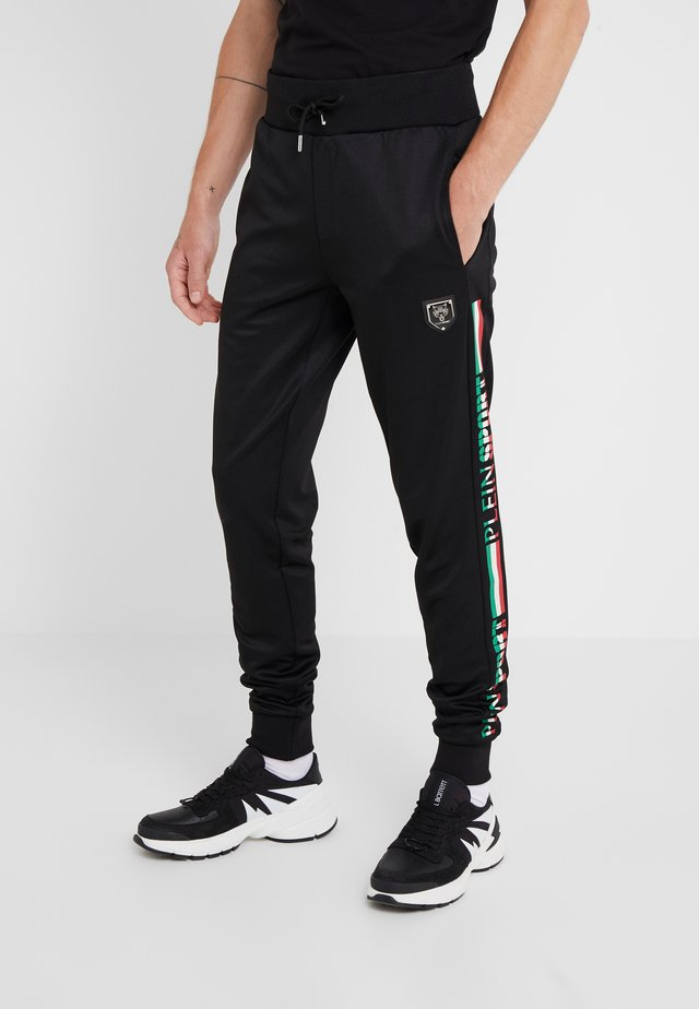 JOGGING TROUSERS IT STRIPES - Trainingsbroek - black