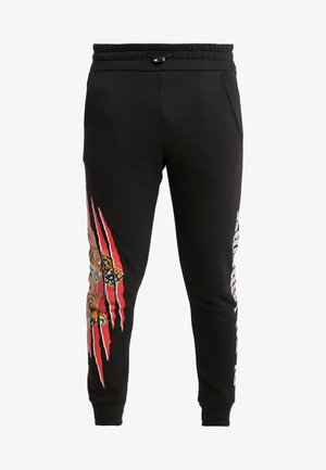 JOGGING TROUSER SCRATCH - Jogginghose - black/red