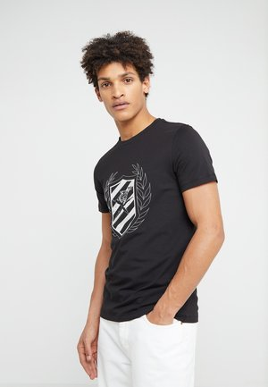 ROUND NECK LOGOS - T-shirt print - black/silver