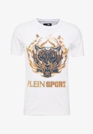 ROUND NECK TIGER - T-shirt imprimé - white