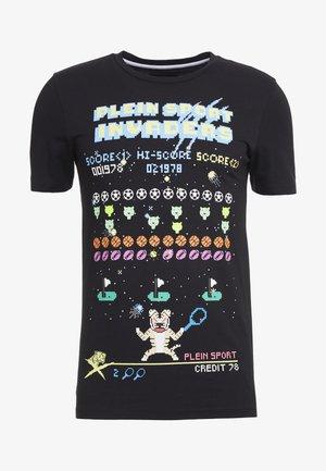 ROUND NECK STATEMENT - T-shirt print - black