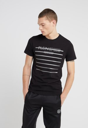ROUND NECK  - T-shirt imprimé - black