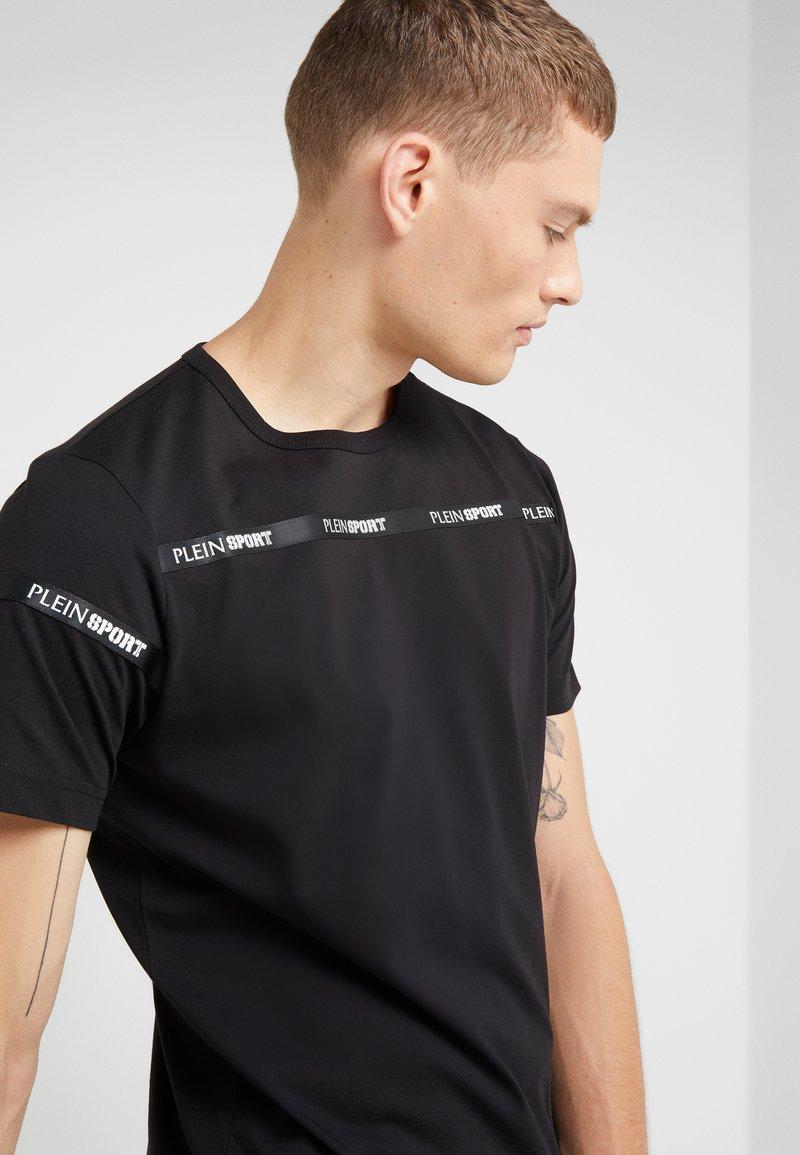Round shirt Neck Imprimé Plein Sport Black StatemenT bfgv7yY6