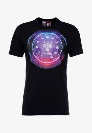 ROUND NECK - T-shirt imprimé - black