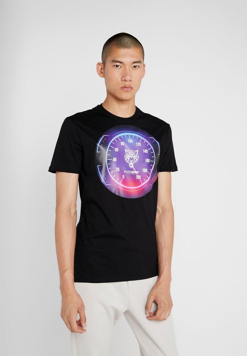 Plein Sport - ROUND NECK - T-shirt print - black