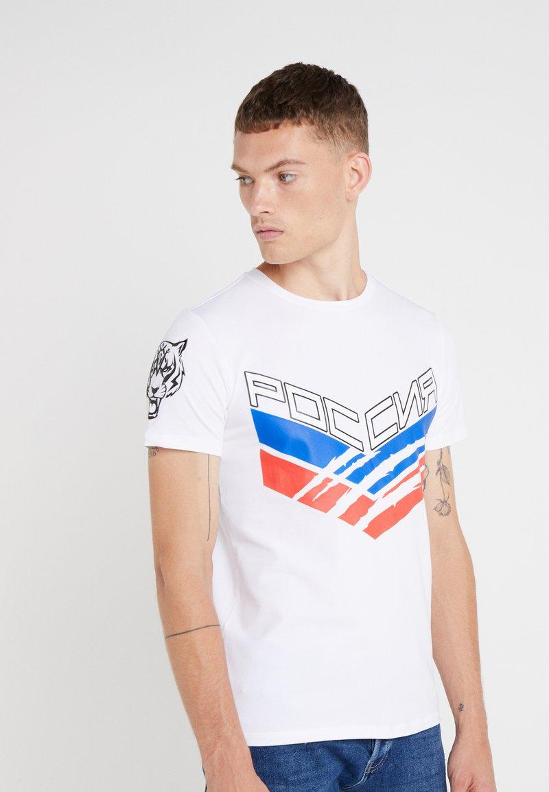 Plein Sport - ROUND NECK STATEMEN - T-shirt med print - white