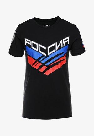 ROUND NECK STATEMEN - T-shirt imprimé - black
