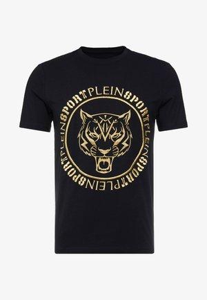 ROUND NECK TIGER - T-shirt print - black/gold