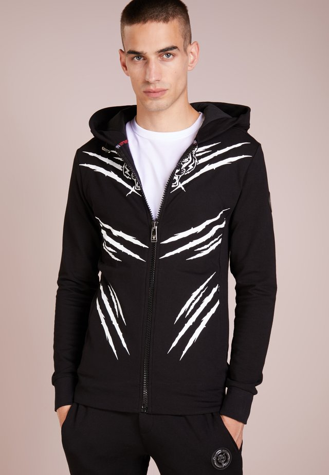 TRACKSUIT SCRATCH TIGER - Dres - black/white