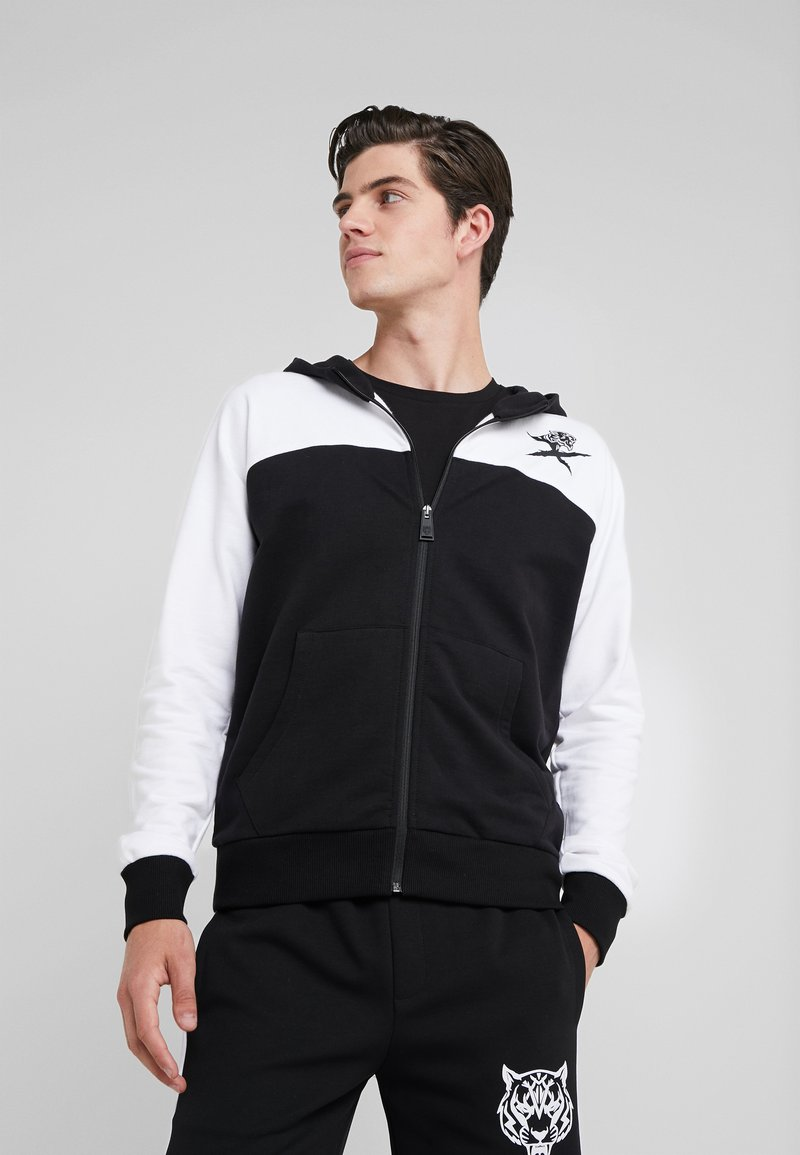 Plein Sport - HOODIE CROSS TIGER - Sweatjakke /Træningstrøjer - black