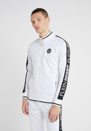 JOGGING JACKET SPORT - veste en sweat zippée - white