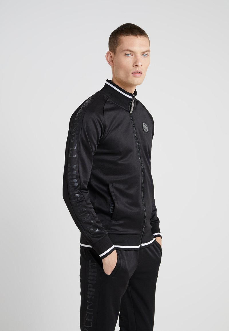 Plein Sport - JOGGING JACKET SPORT - Zip-up hoodie - black